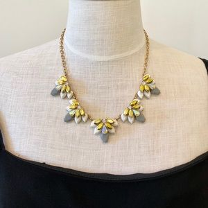 J. Crew Sparkly Crystal Cluster Necklace. Measures